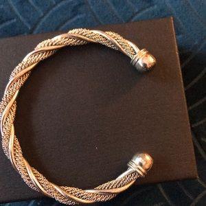 Sterling silver, rope bracelet